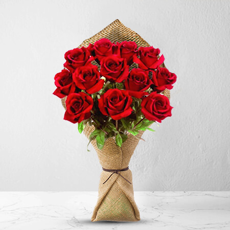 Image of 12 Long Stem Premium Rose Bouquet