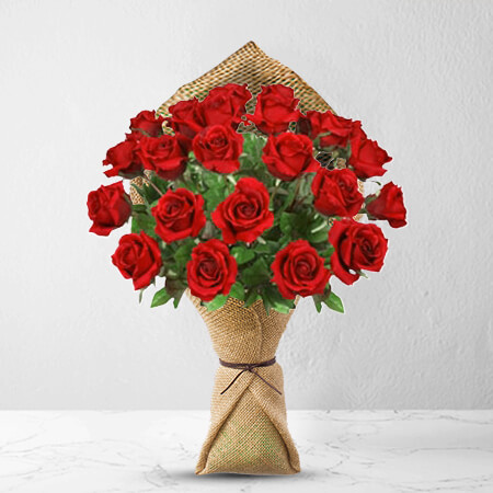 Image of 24 Long Stem Premium Rose Bouquet Flowers
