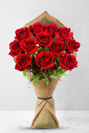 12 Long Stem Premium Rose Bouquet
